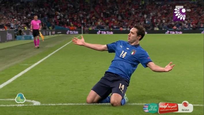 شاهد الهدف الاول (1-0 ) لصالح ايطاليا في شباك اسبانيا