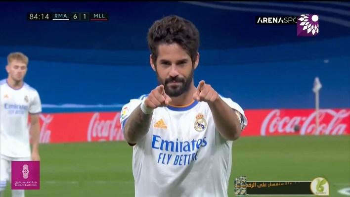 شاهد الهدف السادس (6-1) لصالح ريال مدريد في شباك ريال مايوركا