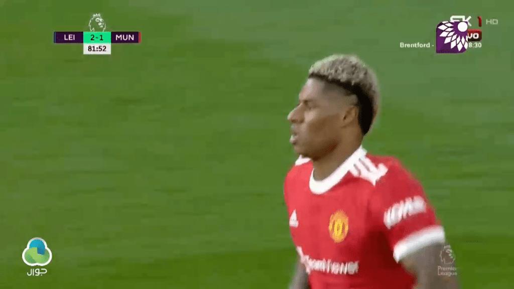 شاهد هدف التعادل الثاني (2-2) لصالح مانشستر يونايتد في شباك ليستر سيتي