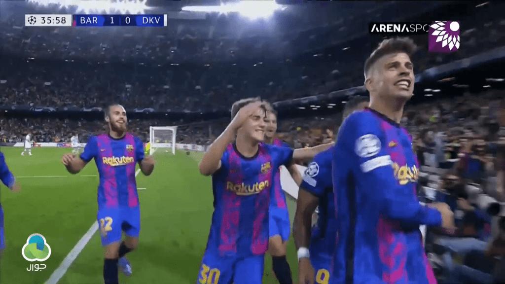 شاهد الهدف الاول (1-0) لصالح برشلونة في شباك دينامو كييف