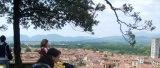 Anja en lo alto de la Torre Guinigi (Lucca, Toscana, Italia)