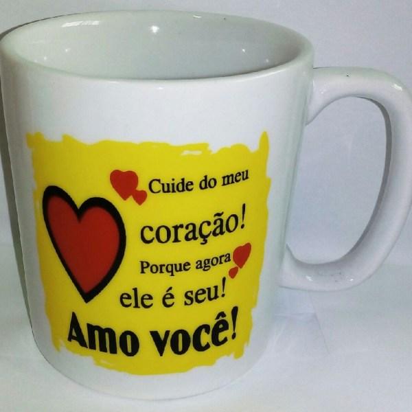 CANECA 300ML - CUIDE DO MEU CORAÇÃO....