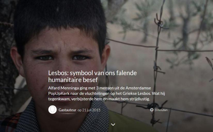 Zinvloed gastblog: <br /><em>Lesbos: symbool van ons falende humanitaire besef</em>