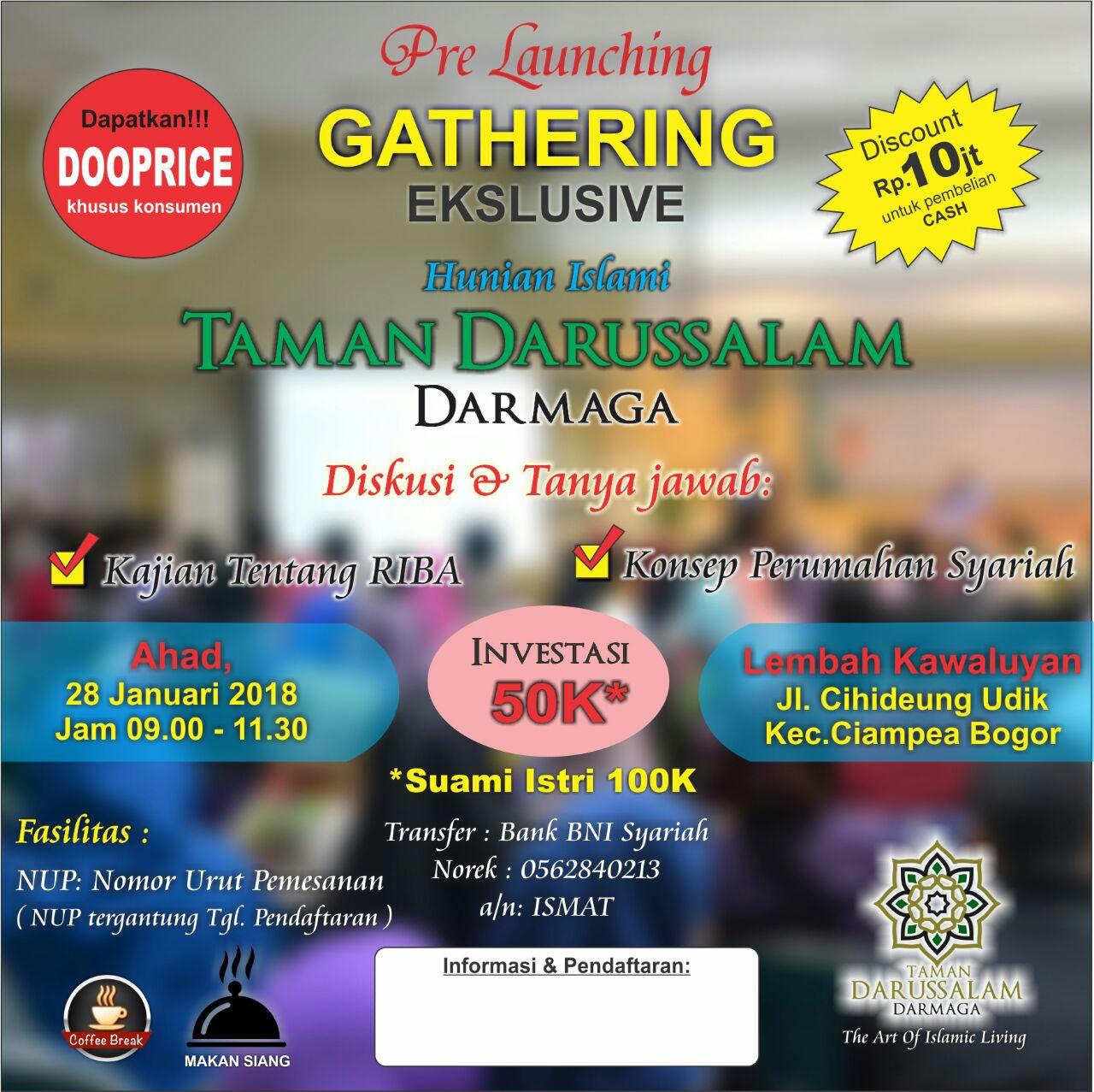 Perumahan Syariah di Bogor Gelar Gathering Peminat
