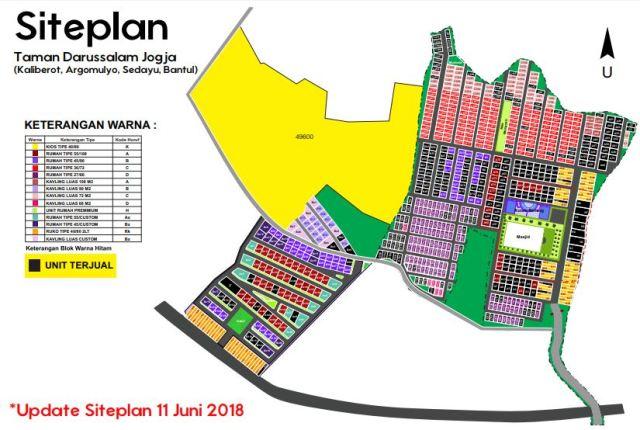 Update Site Plan Taman Darussalam Jogjakarta