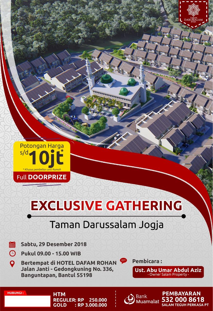 Gathering Peminat Perumahan Taman Darussalam Jogjakarta 29 Desember 2018