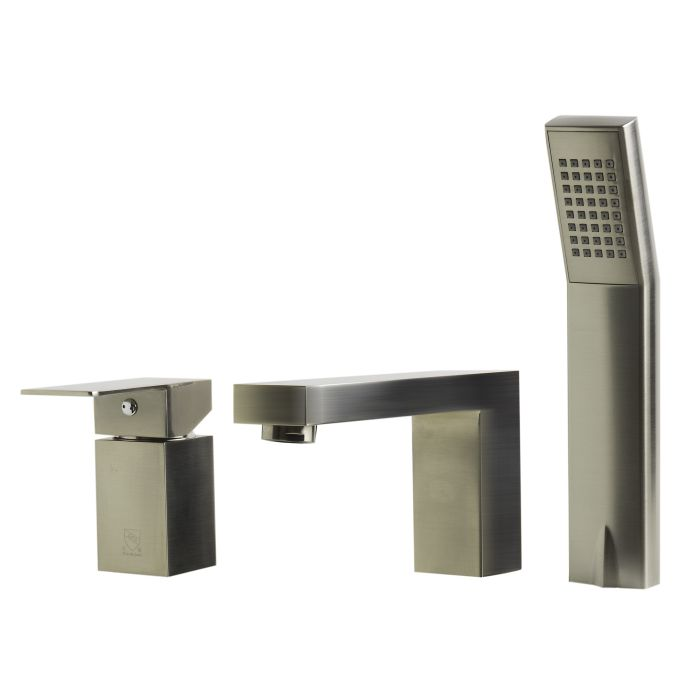alfi brand ab2322 deck mounted tub filler and square hand held shower head