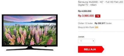 Daftar TV LED terbaru