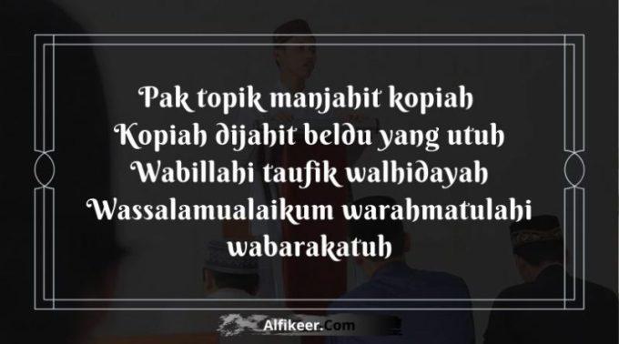 Pantun Penutup Pidato Assalamu'alaikum