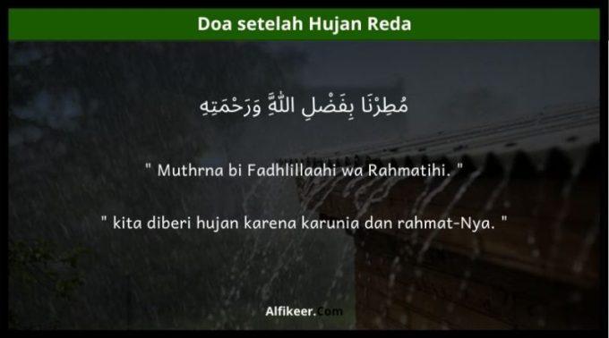 doa setelah hujan