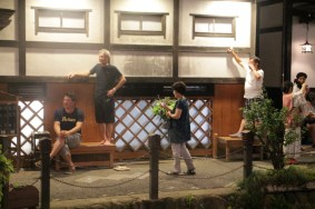 Try to have the right position for waching Hanagasa Dance
