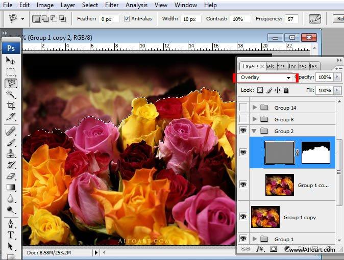 Tuyệt vời kỹ thuật số Hoa hồng bó hoa giật gân hiệu lực trong Photoshop