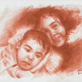 Retrato de Marta y Elena