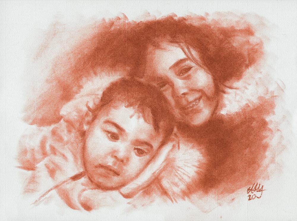 retrato Marta y Elena