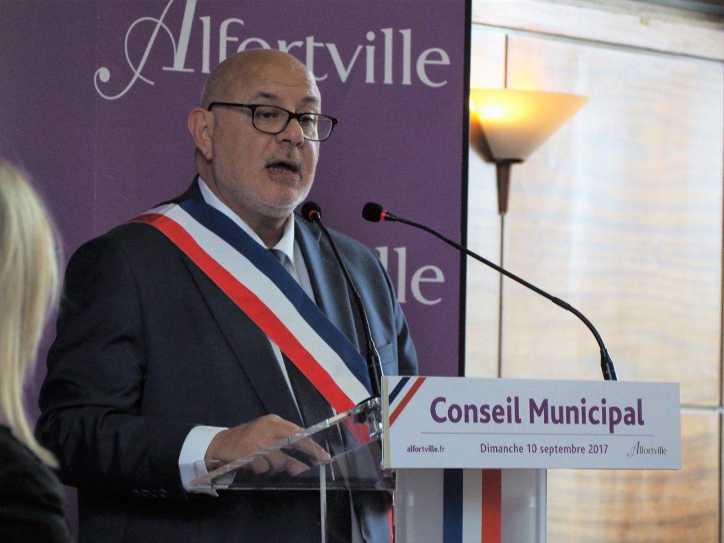 Première prise de parole de Michel Gerchinovitz élu Maire d'Alfortville