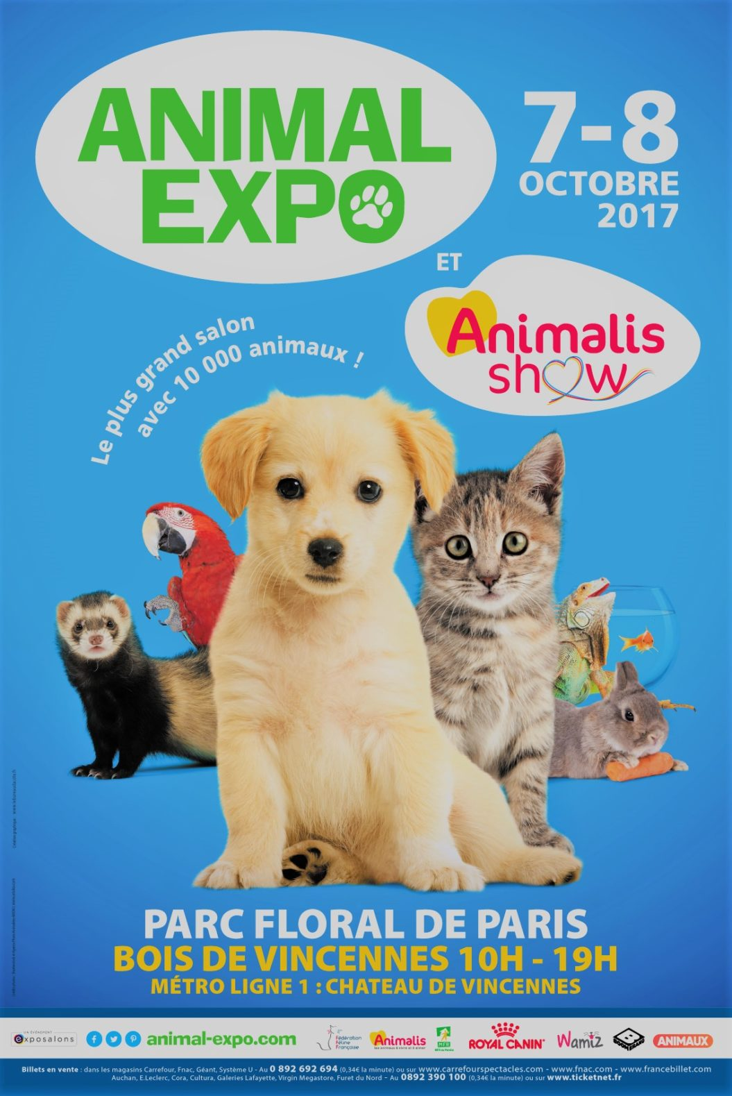 Salon Animal Expo Parc Floral de Paris Bois de Vincennes - 7 & 8 Octobre 2017