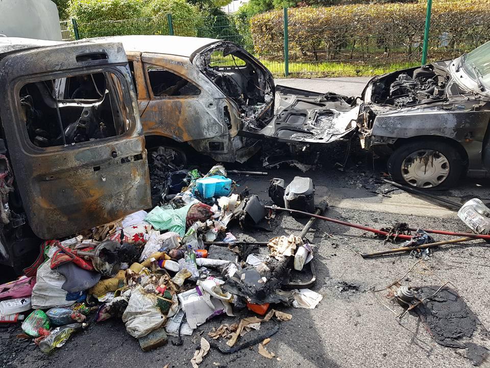 incendie voiture Alfortville les Alouettes