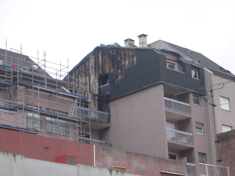 Alfortville incendie immeuble place Allende 2007 - Archive photo blog Alfortville Confluence