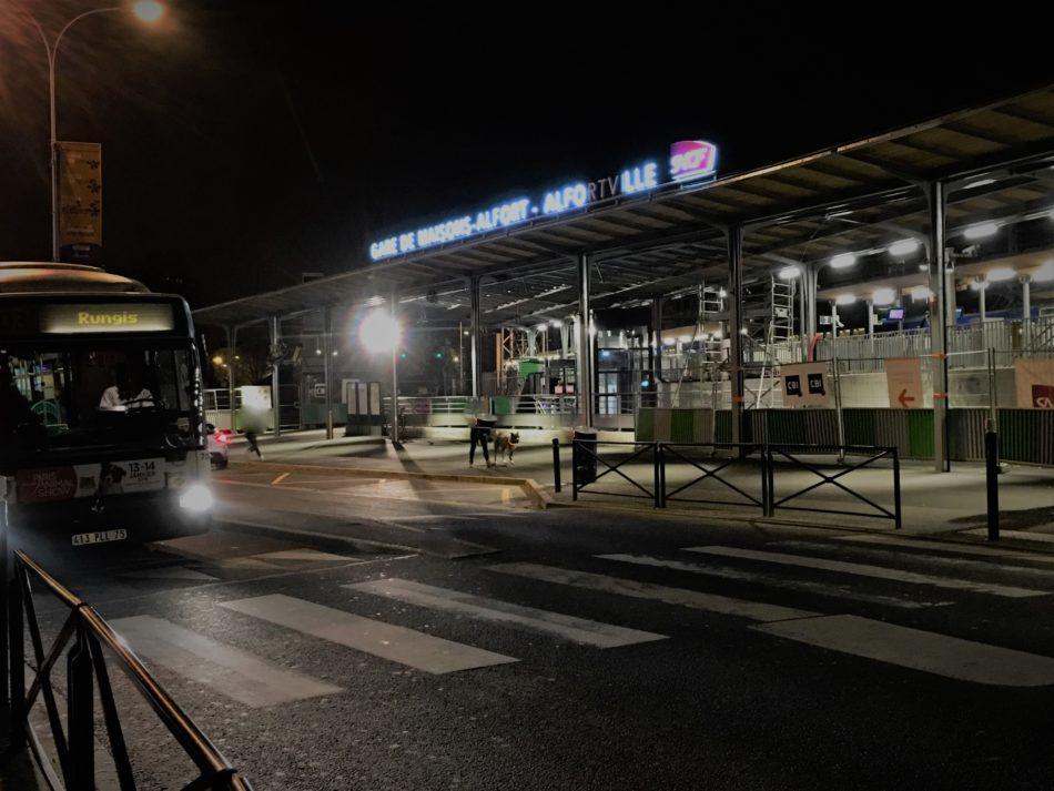 Alfortville travaux de la gare SNCF RER D