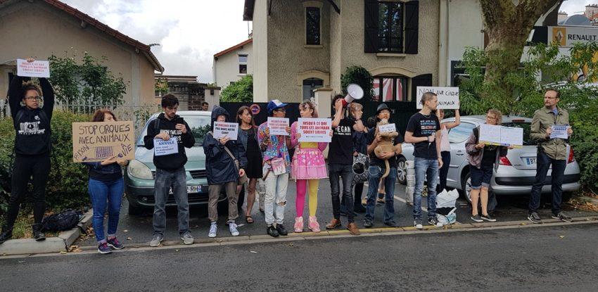 manifestation contre les animaux dans les cirques Alfortville aout 2018 ©AlfortvilleActualites