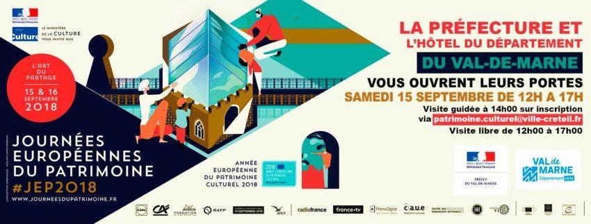Journées européennes du Patrimone 2018 Visite de la Préfecture Val-de-Marne et Hôtel du Département