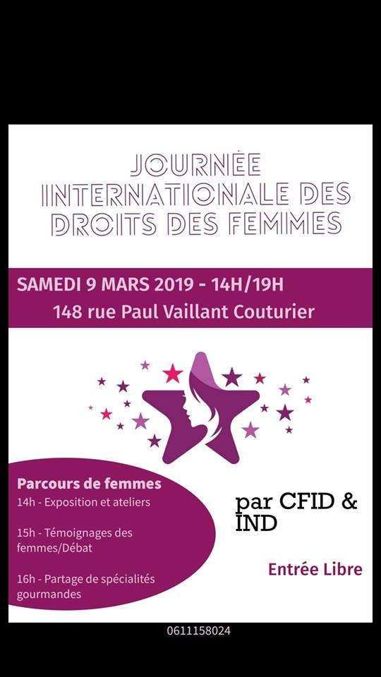 Parcours de Femmes samedi 9 mars Alfortville espace culturel le 148