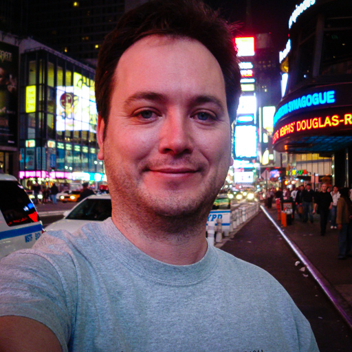 Alfred Myers na Times Square em 19/04/2008