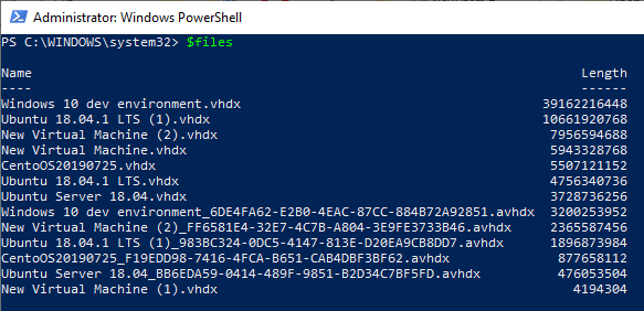 My first steps on managing Hyper-V through PowerShell