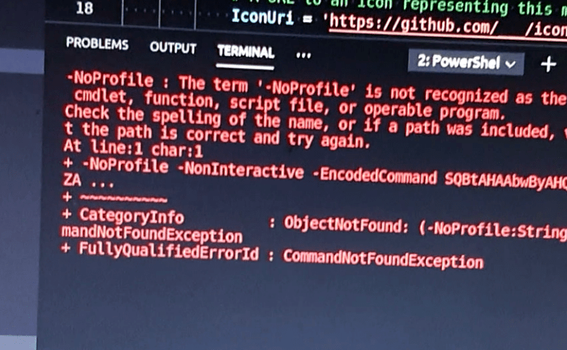 The term '{0}' is not recognized as the name of a cmdlet, function, script file, or operable program.