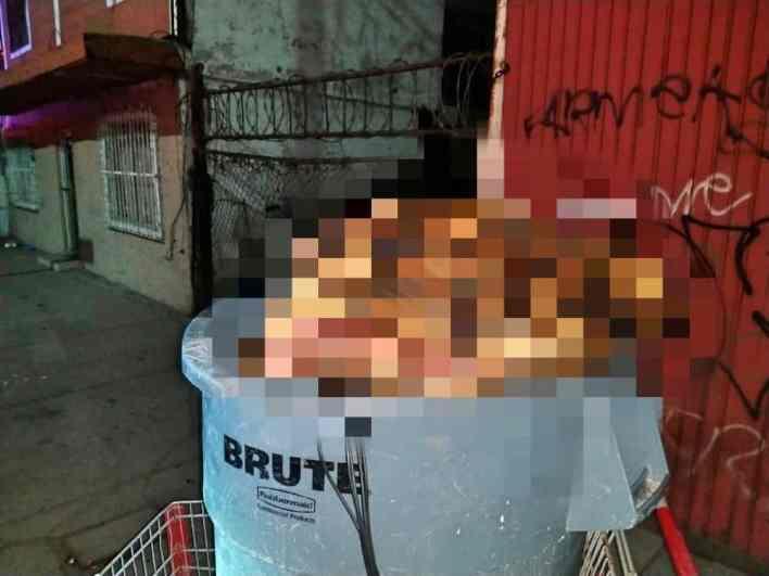 Cuerpo mutilado de una mujer víctima de feminicidio