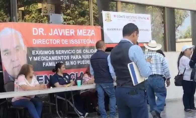 Burócratas afectados en Issstecali