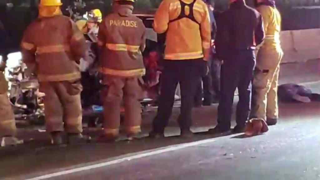 Tres muertos en fuerte choque sobre Vía Rápida