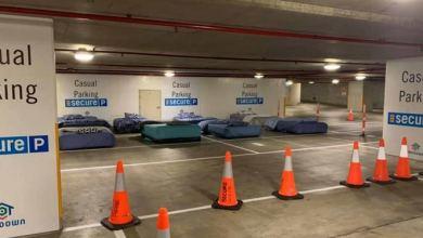 Photo of Convierten estacionamiento en 'hotel' para indigentes por las noches