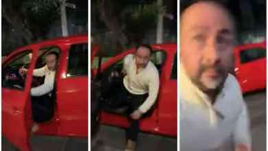 Conductor golpea a mujer tras reclamo