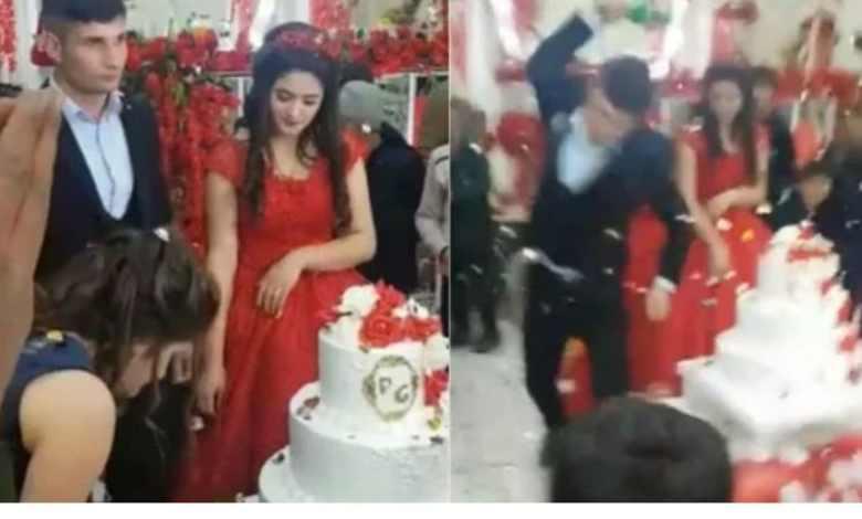 Indigna reacción histérica de un hombre en su propia boda