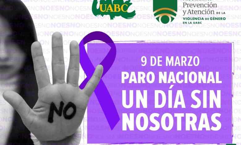 UABC se une al paro nacional de mujeres