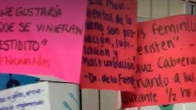 Photo of Ponen tendedero contra acoso en facultad de medicina