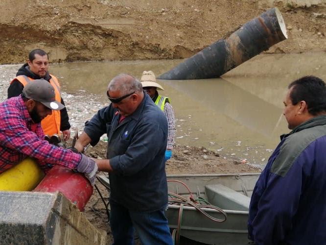 CESPT entra en acción para evitar inundación en planta de bombeo del cañón del matadero
