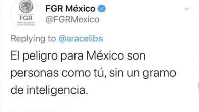 Photo of FGR insulta a usuaria a través de Twitter que criticó a AMLO
