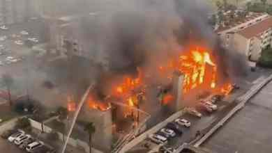 Photo of VIDEO: Fuerte incendio consume condominio