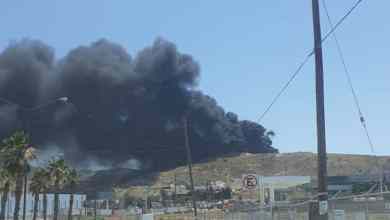 Photo of Fuerte incendio en recicladora en La Presa