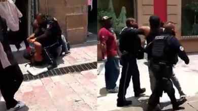 Photo of VIDEO: No usa cubrebocas y  policías municipales lo someten