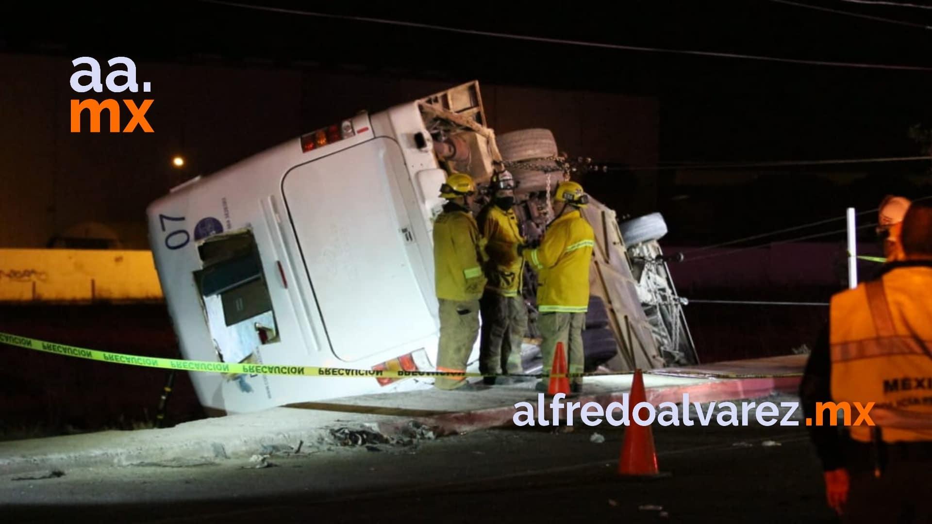 Camionazo trabajadores heridos
