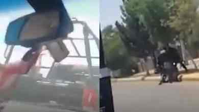 VIDEO-Patrulla-choca-contra-auto-de-familia-golpean-a-conductor
