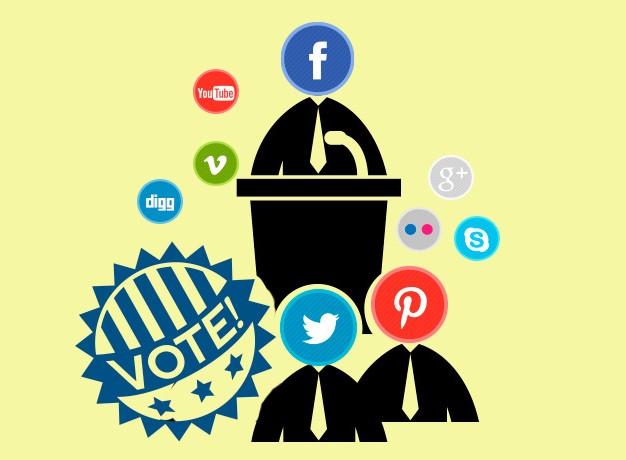 Las redes sociales y la política.