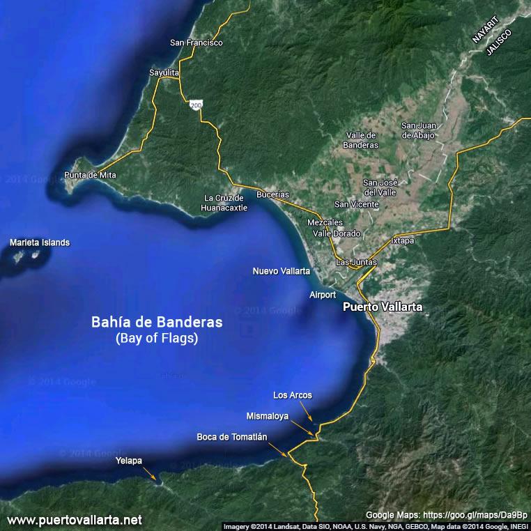 La región de Puerto Vallarta – Bahía de Banderas.