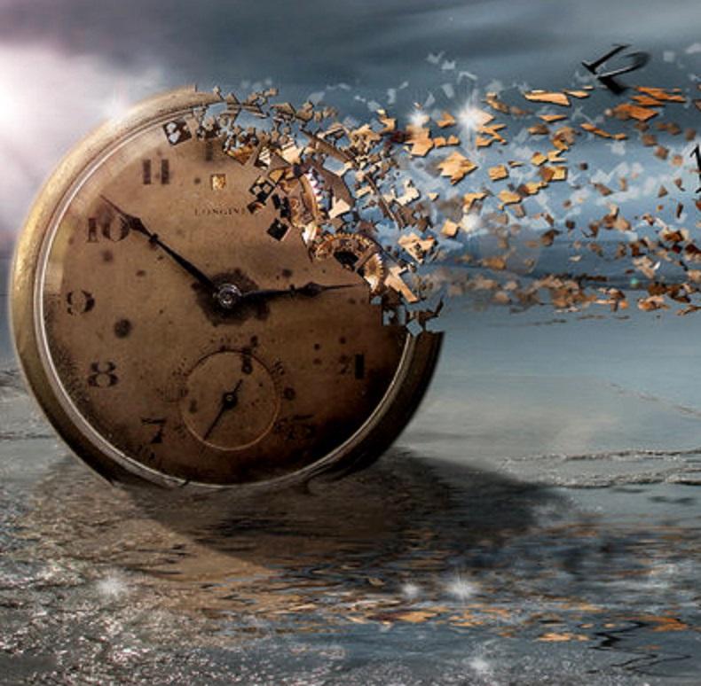 La velocidad del tiempo es una carrera desbocada.