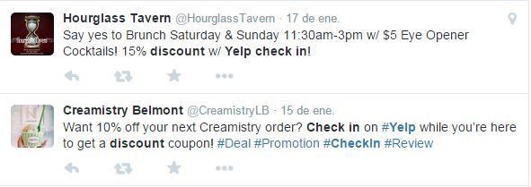 oferta de yelp en twitter