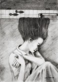 """Quiet time"" by Alf Sukatmo. Pencil on paper."