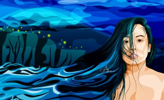 """Melodramatic Blue"" by Alf Sukatmo. Vector Artwork."